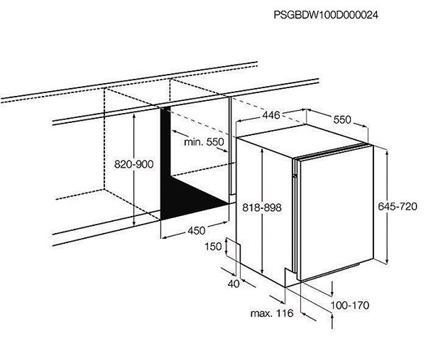 Размеры посудомойки Electrolux ESL94201LO