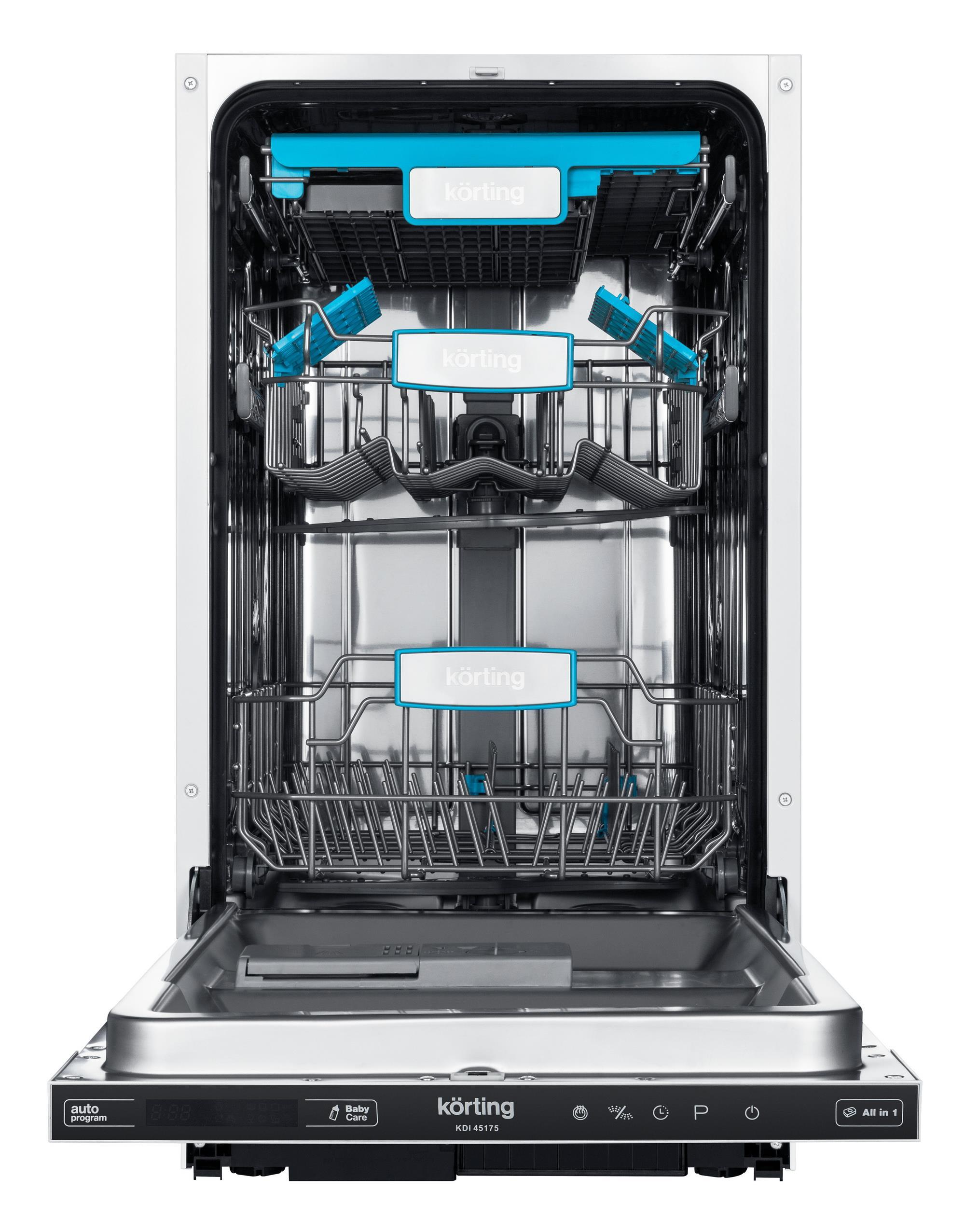 Посудомоечная машина Korting Kdi 45175 изнутри