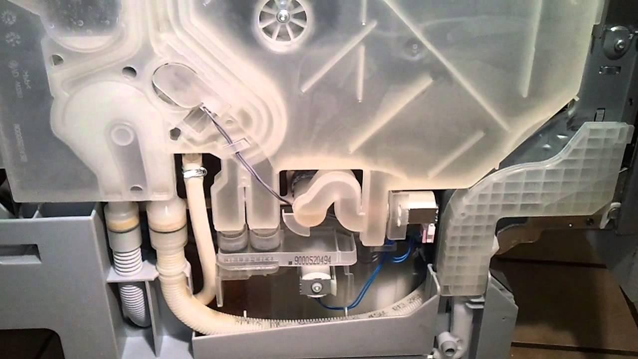 Скрытые части посудомойки Siemens