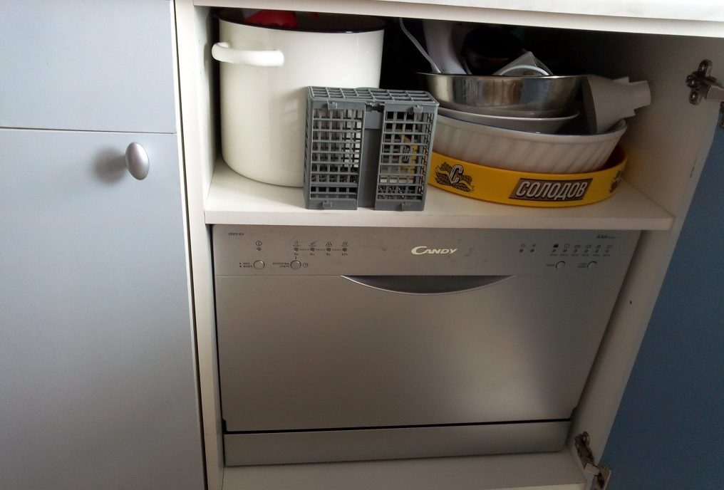 Вариант встраивания посудомойки Канди CDCF 6S 07