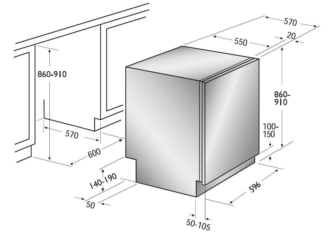 Сверка размеров мебельной ниши и посудомойки