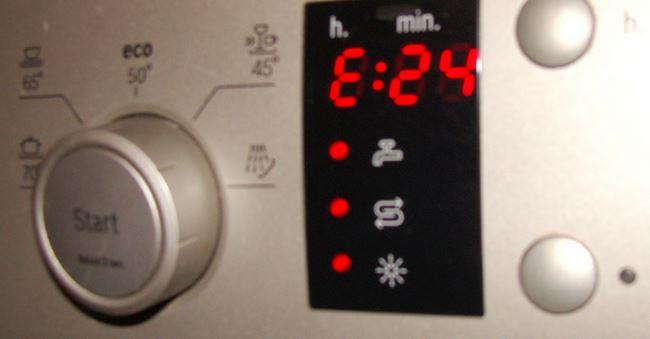 Ошибка Е24 посудомоечной машины Bosch