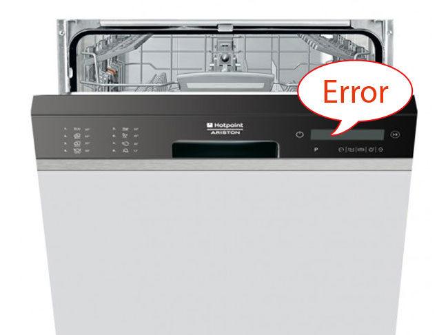 Ошибки посудомоечных машин Ariston
